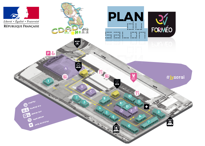 Plan du salon FORMEO 2018